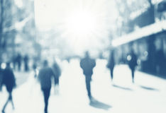 City commuters. Abstract blurred image of a city street scene Royalty Free Stock Photo