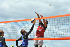 City competitions on beach volleyball Royalty Free Stock Images