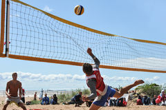 City competitions on beach volleyball Stock Images