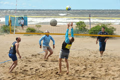 City competitions on beach volleyball stock photos
