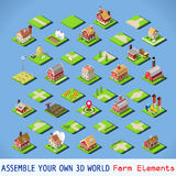 City 03 COMPLETE Set Isometric Royalty Free Stock Images