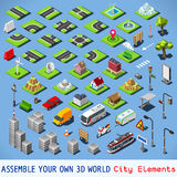 City 01 COMPLETE Set Isometric Royalty Free Stock Photography
