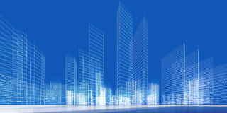 City concept 3d Royalty Free Stock Photography