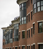 City Condos. A row of modern apartments in the city of Burlington, Vermont stock photography