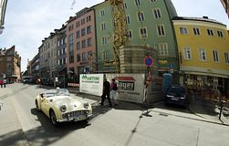 City of Constance - with old car Stock Photo