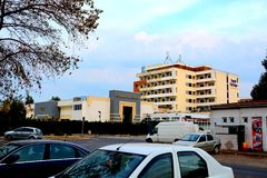 City Constanta, harbor at Black Sea. Royalty Free Stock Image