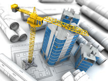 City construction 3d Royalty Free Stock Photos
