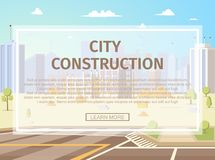 Urban Infrastructure Project Flat Vector Webpage stock illustration