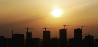 City construction silhouette Royalty Free Stock Photo