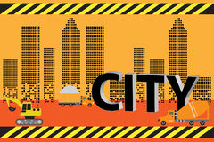 City Construction vector  building city scene on night time vector Stock Photos