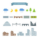 City constructor icons set. Stock Image