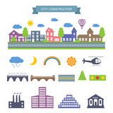 City constructor icons set. Royalty Free Stock Photo