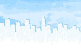 City contour against the blue sky. Stock Image
