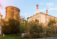 City cooling tower Royalty Free Stock Images