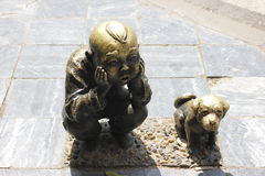 The city cooper sculpture for Anciet Childhood(Xiangyang,China) Royalty Free Stock Image
