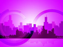 City Copyspace Indicates Abstract Background And Downtown Royalty Free Stock Photography