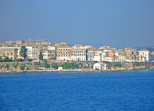 City of Corfu. Panoramic view of Corfu City Royalty Free Stock Images