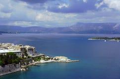 City on Corfu island Stock Photos
