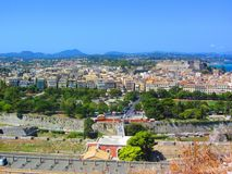 City of Corfu, Kerkyra, Greece, aerial view royalty free stock images