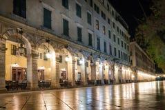 City of Corfu at night Royalty Free Stock Photo
