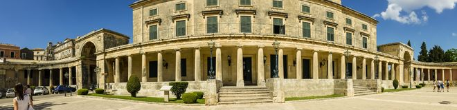 Museum in Corfu town on the Island of Corfu. The city of Corfu stands on the broad part of a peninsula, whose termination in the Venetian citadel is cut off from Royalty Free Stock Photography