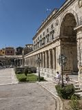 Museum in Corfu town on the Island of Corfu. The city of Corfu stands on the broad part of a peninsula, whose termination in the Venetian citadel is cut off from Stock Photo