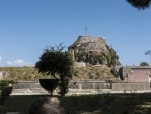 The Old Fortress in Corfu town on the Greek Island of Corfu Royalty Free Stock Photo