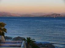 The bay of Corfu Town on  the Greek Island of Corfu Stock Photography