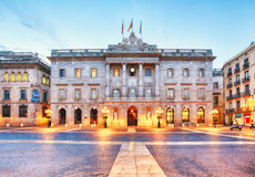 City council on Barcelona, Spain. Plaza de Sant Jaume Royalty Free Stock Photo