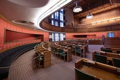 City Council Chamber in Oslo City Hall, Norway Royalty Free Stock Photos