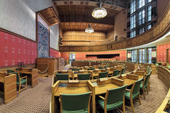 City Council Chamber in Oslo City Hall, Norway