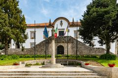 City council square in Ponte de Lima, Portugal Royalty Free Stock Photo