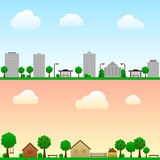 City and countryside. Seamless  city and countryside Stock Images