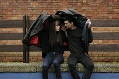 City, Couple, Girl Stock Photography