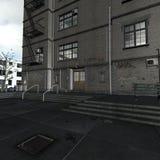 City Courtyard Stock Image
