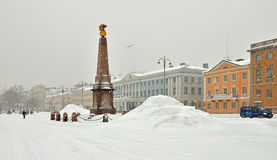City covered with snow Royalty Free Stock Photography