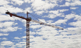 City crane blue sky clouds Stock Photography