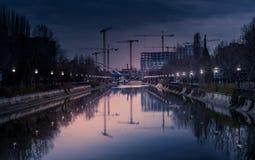 City Cranes Stock Photo