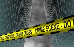 City crime scene Royalty Free Stock Photos