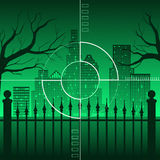 City in crosshairs Royalty Free Stock Photo