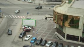 City crossroad. Tilt shift effect stock video footage