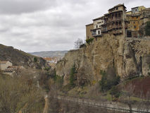 The city of Cuenca, Spain. The city of Cuenca is located between the rivers Jucar and Huecar, with its magnificent gorges. Of interest are: the old city, the Royalty Free Stock Photography
