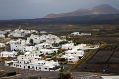 City cultivation home  winery lanzarote Stock Photo