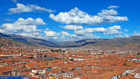 City of cuzco. A view of the old city of cuzco in peru royalty free stock photography