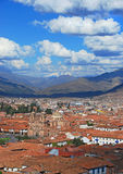 City of cuzco. A view of the old city of cuzco in peru stock images