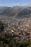 City of Cuzco in Peru. Overview of the city of Cuzco high in the Andes Mountains in Peru in South America Royalty Free Stock Photos
