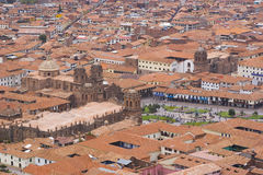 City of Cuzco, Peru. Overview of the city of Cuzco, Peru royalty free stock photography