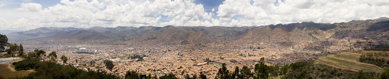 City of Cuzco Peru Panoramic Stock Photos