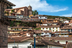City of Cuzco in Peru Stock Image