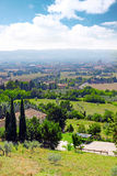 City cview of Assisi. Umbria. Italy. City cview of Assisi. Umbria region . Italy stock photo